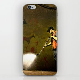 Banksy - Removing Historys Art iPhone Skin