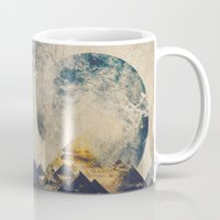 aqua Mugs featuring One mountain at a time by HappyMelvin