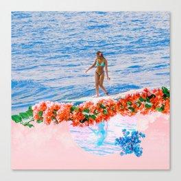 aloha gumamela surfin bougainvillea ala lea Canvas Print
