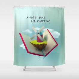 A secret place for inspiration Shower Curtain