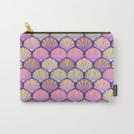Seashell pink and lilac for mermaids Carry-All Pouch