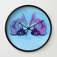 koi Wall Clocks featuring Koi by Nir P