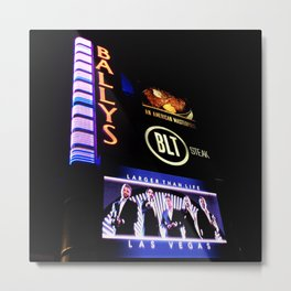 Ballys' Sign, Las Vegas Metal Print