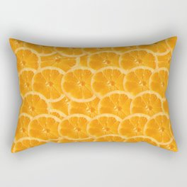 Orange Pattern Rectangular Pillow