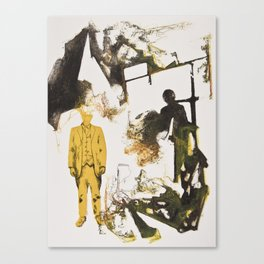 Drawn Restraint (Present) Canvas Print