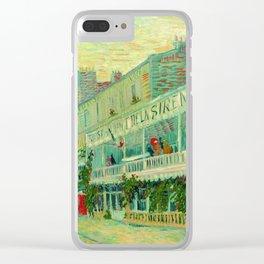 """Vincent Van Gogh """"Le Restaurant de la Sirène à Asnières"""" Clear iPhone Case"""