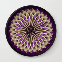 Magical geometric fantasy flower Wall Clock