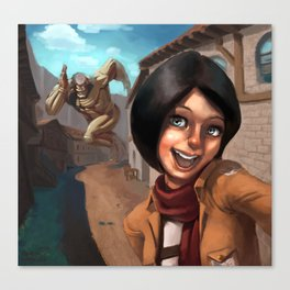 Mikasa Takes a Selfie! Canvas Print