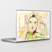 taxi driver Laptop & iPad Skins featuring Taxi Driver by Dobleu