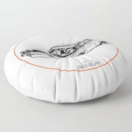 Crazy Car Art 0204 Floor Pillow
