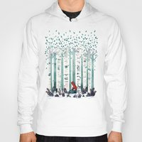 watercolour Hoodies featuring The Birches by littleclyde