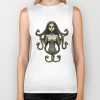 medusa Biker Tanks featuring Medusa by Freeminds
