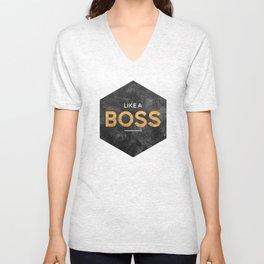 Like a boss Unisex V-Neck