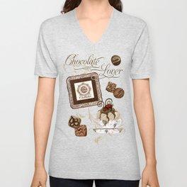 "Vintage Style ""Le Chocolatier"" Chocolate Candy  Unisex V-Neck"