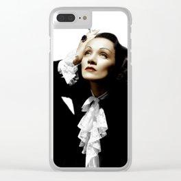 Marlene Dietrich Clear iPhone Case