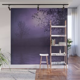 SONG OF THE NIGHTBIRD - LAVENDER Wall Mural