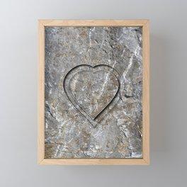 Stone Heart Framed Mini Art Print