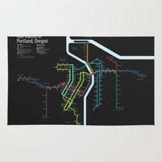 Rail Transit of Portland, Oregon Rug