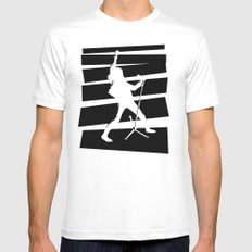 Legendary Punk Frontman MEDIUM White Mens Fitted Tee