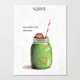La Cuisine Fusion - Smoothie with Chouriça Canvas Print