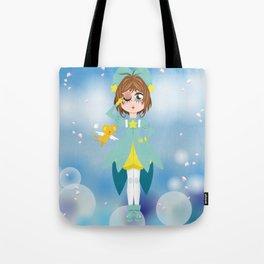 Mini Me Stars: Green Sakura Tote Bag