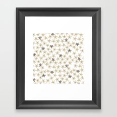 Grey and yellow flowers  Framed Art Print