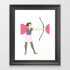 Shoot Straight Framed Art Print