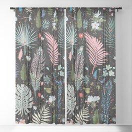Magic Garden / Floral Pattern Sheer Curtain