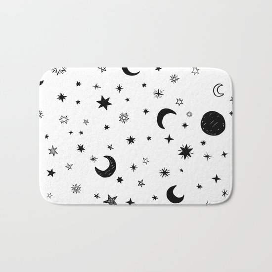 Moons & stars Bath Mat