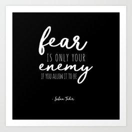 Fear Is Only - Dark Art Print