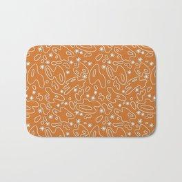 Happy Blobs- orange-teal-white Bath Mat