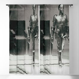 Metropolis poster print vintage photograph science fiction sci-fi cult classic film black and white movie still photograph Blackout Curtain