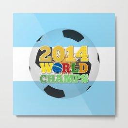 2014 World Champs Ball - Argentina Metal Print
