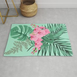 Tropical Pastel Bouquet Rug