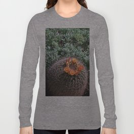 Barrel Cactus #2, Yellow Flowers Long Sleeve T-shirt