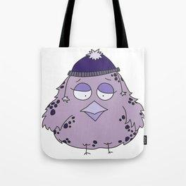 Little birdie in a funny cap (purple edition) Tote Bag