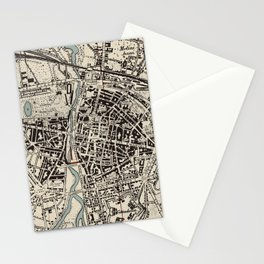Vintage Map of Parma Italy (1943) Stationery Cards