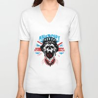 anarchy V-neck T-shirts featuring Anarchy queen by Tshirt-Factory