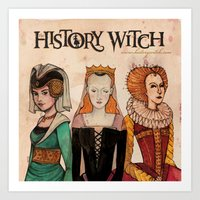 art history Art Prints featuring History Witch Logo Art by The History Witch