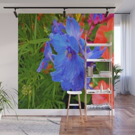 blue and pink Wall Mural