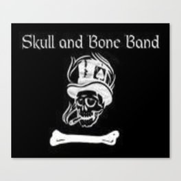 Skull and Bone Band 2 Canvas Print