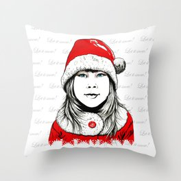 Snow-maiden Throw Pillow