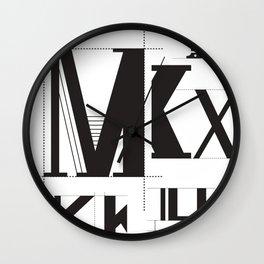 Alphabet Project Wall Clock
