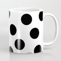 polka dot Mugs featuring Polka Dot by JiaMiin Berglund