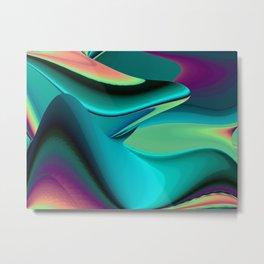 Futuristic, Abstract Rainbowart 6 Metal Print