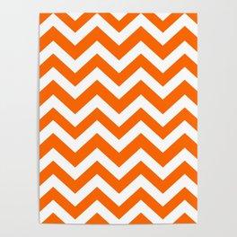 Orange color - Zigzag Chevron Pattern Poster