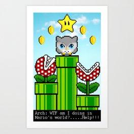 Arch in Mario´s world Art Print