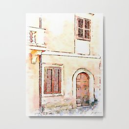 Camerata Nuova: door and two windows Metal Print