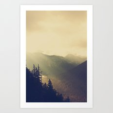 Sunrise over the Mountians Art Print