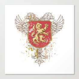 Coat of Arms Shield - Griffin Seal - Crown Lion and the Mark Canvas Print